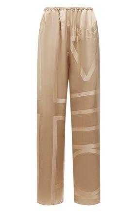 Женские шелковые брюки TOTÊME светло-коричневого цвета, арт. 212-255-724 | Фото 1