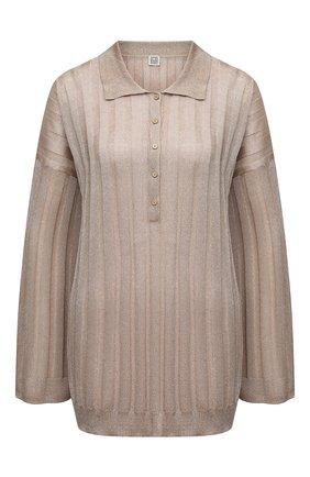 Женский пуловер из вискозы TOTÊME светло-коричневого цвета, арт. 212-570-760 | Фото 1