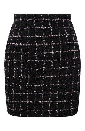 Женская хлопковая юбка ALESSANDRA RICH черного цвета, арт. FAB1441-F3170   Фото 1