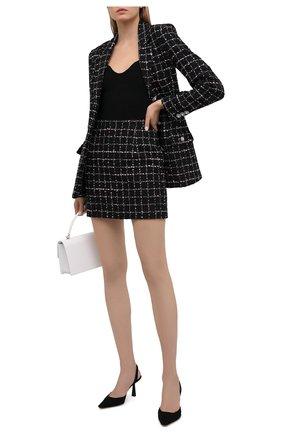 Женская хлопковая юбка ALESSANDRA RICH черного цвета, арт. FAB1441-F3170   Фото 2