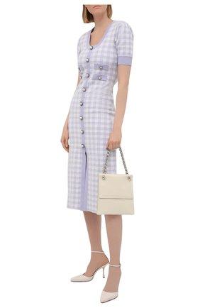 Женское платье ALESSANDRA RICH сиреневого цвета, арт. FAB2439-K3214   Фото 2