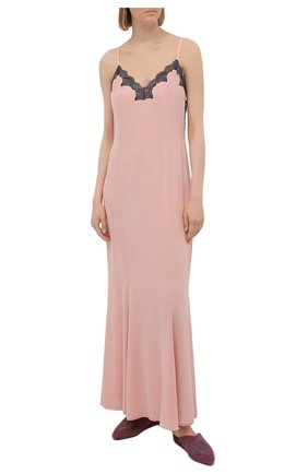 Женская шелковая сорочка LA PERLA светло-розового цвета, арт. 0051800 | Фото 2