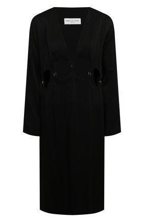 Женское платье из вискозы DRIES VAN NOTEN черного цвета, арт. 211-11063-2177   Фото 1