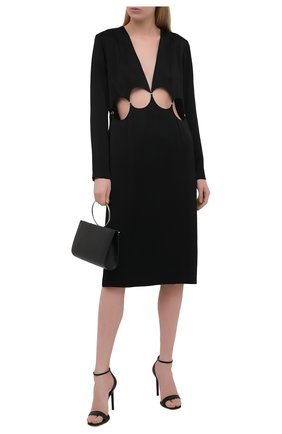 Женское платье из вискозы DRIES VAN NOTEN черного цвета, арт. 211-11063-2177   Фото 2