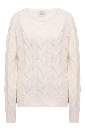 Женский хлопковый свитер FTC светло-бежевого цвета, арт. 823-0130   Фото 1