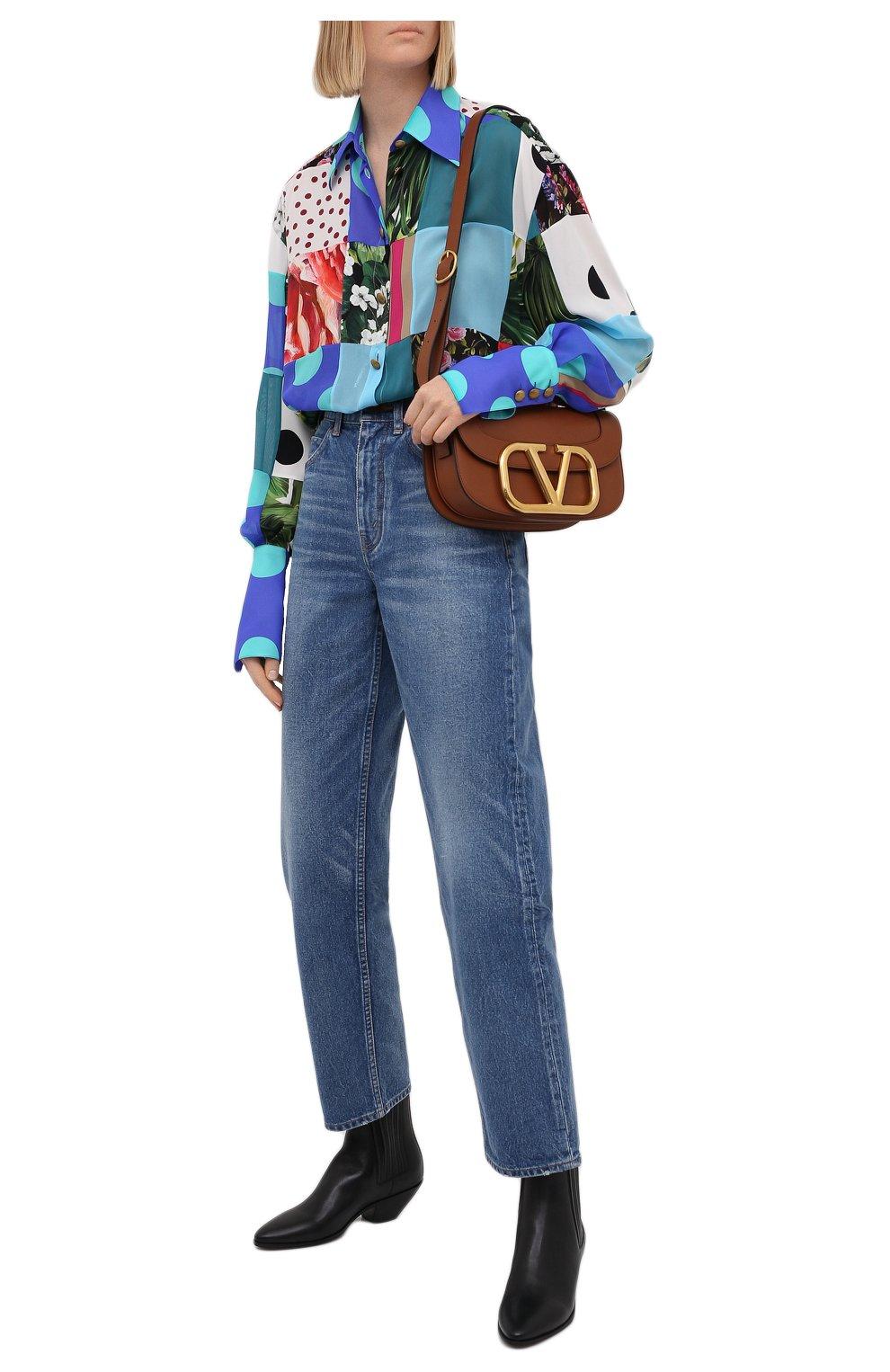 Женская шелковая рубашка DOLCE & GABBANA разноцветного цвета, арт. F5042T/GDY42 | Фото 2