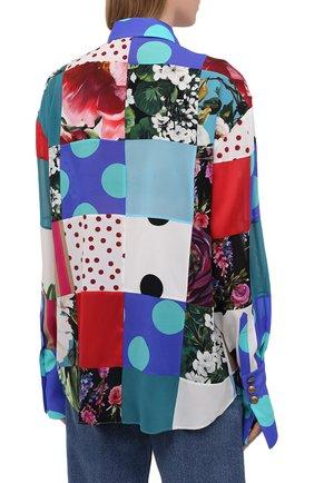 Женская шелковая рубашка DOLCE & GABBANA разноцветного цвета, арт. F5042T/GDY42 | Фото 4