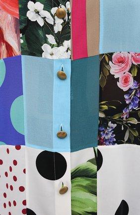 Женская шелковая рубашка DOLCE & GABBANA разноцветного цвета, арт. F5042T/GDY42 | Фото 5