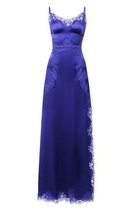 Женское шелковое платье DOLCE & GABBANA синего цвета, арт. I6AE1W/GDZAP | Фото 1