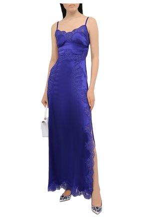 Женское шелковое платье DOLCE & GABBANA синего цвета, арт. I6AE1W/GDZAP | Фото 2