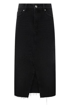 Женская джинсовая юбка PAIGE черного цвета, арт. 5567G82-8031 | Фото 1
