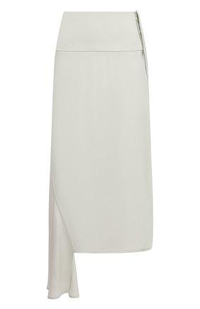 Женская юбка из вискозы и шелка JIL SANDER светло-зеленого цвета, арт. JSWS356205-WS390702   Фото 1