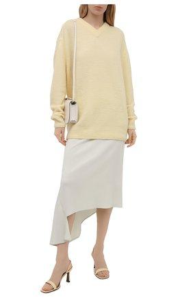 Женская юбка из вискозы и шелка JIL SANDER светло-зеленого цвета, арт. JSWS356205-WS390702   Фото 2