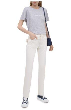 Женская хлопковая футболка KSUBI серого цвета, арт. 5000005842   Фото 2