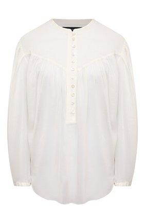 Женская хлопковая блузка ISABEL MARANT белого цвета, арт. HT2066-21E025I/KILEDIA   Фото 1