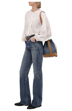 Женская хлопковая блузка ISABEL MARANT белого цвета, арт. HT2066-21E025I/KILEDIA   Фото 2