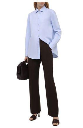 Женская хлопковая рубашка SAINT LAURENT голубого цвета, арт. 648682/Y165R | Фото 2