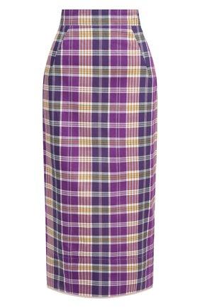 Женская хлопковая юбка N21 фиолетового цвета, арт. 21E N2S0/C014/1003   Фото 1