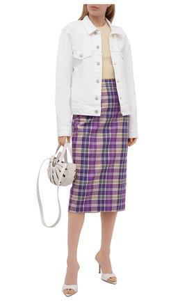 Женская хлопковая юбка N21 фиолетового цвета, арт. 21E N2S0/C014/1003   Фото 2