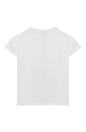 Детская хлопковая футболка KENZO белого цвета, арт. K25106   Фото 2