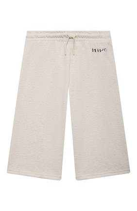 Детские хлопковые брюки KENZO бежевого цвета, арт. K14029 | Фото 1 (Материал внешний: Хлопок; Девочки Кросс-КТ: Брюки-одежда; Ростовка одежда: 10 - 11 лет | 140 - 146см, 12 лет | 152 см, 3 года | 98 см, 4 года | 104 см, 6 лет | 116 см, 8 лет | 128 см)