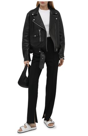 Женские кожаные шлепанцы mallorca BALENCIAGA белого цвета, арт. 656821/WA2M6 | Фото 2