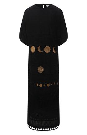 Женское хлопковое платье loewe x paula's ibiza LOEWE черного цвета, арт. S616Y09X12 | Фото 1 (Стили: Бохо; Женское Кросс-КТ: Платье-одежда; Материал подклада: Шелк; Материал внешний: Хлопок; Длина Ж (юбки, платья, шорты): Миди; Случай: Повседневный; Рукава: 3/4)