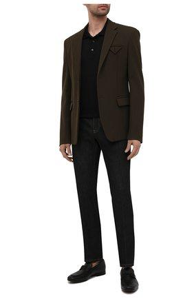 Мужские кожаные лоферы SALVATORE FERRAGAMO черного цвета, арт. Z-07345443E | Фото 2