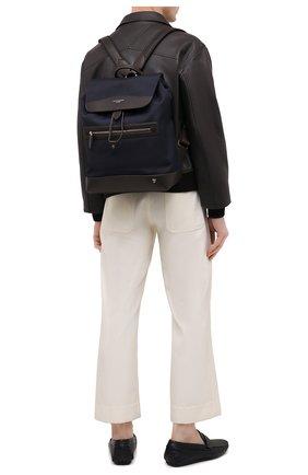 Мужской комбинированный рюкзак ASPINAL OF LONDON темно-синего цвета, арт. 011-2194_21940000 | Фото 2