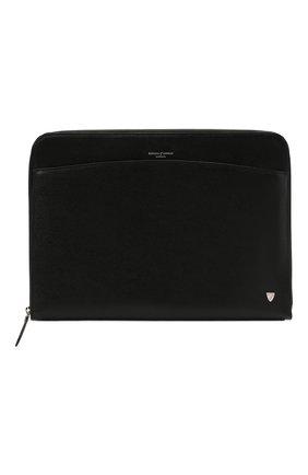 Мужская кожаная сумка для ноутбука ASPINAL OF LONDON черного цвета, арт. 011-2074_14210000 | Фото 1
