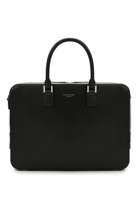 Мужская кожаная сумка для ноутбука ASPINAL OF LONDON черного цвета, арт. 011-1575_14210000 | Фото 1