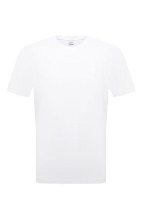 Мужская хлопковая футболка ASPESI белого цвета, арт. S1 A 3107 A335 | Фото 1 (Материал внешний: Хлопок; Длина (для топов): Стандартные; Принт: Без принта; Стили: Кэжуэл; Рукава: Короткие)