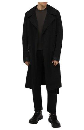 Мужской хлопковый плащ GIORGIO BRATO черного цвета, арт. TX21S1052FN01 | Фото 2