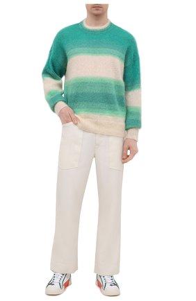 Мужские текстильные кеды OFF-WHITE белого цвета, арт. 0MIA213S21FAB0010109 | Фото 2 (Материал внутренний: Текстиль; Подошва: Плоская; Материал внешний: Текстиль)