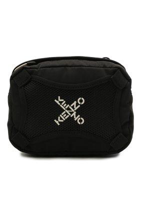 Мужская текстильная сумка KENZO черного цвета, арт. FA65SA218F21 | Фото 1