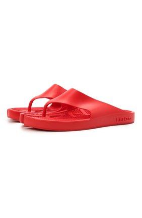 Мужские резиновые шлепанцы KENZO красного цвета, арт. FB55MU100P62 | Фото 1 (Материал внутренний: Резина; Материал внешний: Экокожа)