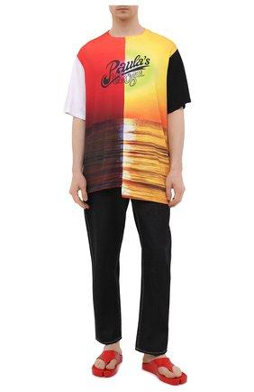 Мужские резиновые шлепанцы KENZO красного цвета, арт. FB55MU100P62 | Фото 2 (Материал внутренний: Резина; Материал внешний: Экокожа)