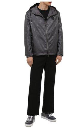 Мужские кожаные кеды BERLUTI серого цвета, арт. S5330-004   Фото 2 (Материал внутренний: Натуральная кожа; Подошва: Плоская)