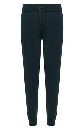 Мужские шерстяные джоггеры LORO PIANA темно-зеленого цвета, арт. FAL6117 | Фото 1 (Силуэт М (брюки): Джоггеры; Мужское Кросс-КТ: Брюки-трикотаж; Материал внешний: Шерсть; Кросс-КТ: Спорт; Стили: Спорт-шик; Длина (брюки, джинсы): Стандартные)