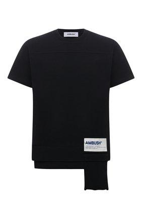 Мужская хлопковая футболка AMBUSH черного цвета, арт. BMAA004S21JER001 | Фото 1