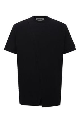 Мужская хлопковая футболка AMBUSH черного цвета, арт. BMAA017S21JER001 | Фото 1