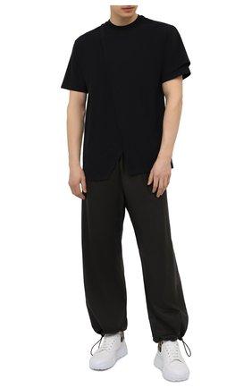 Мужская хлопковая футболка AMBUSH черного цвета, арт. BMAA017S21JER001 | Фото 2