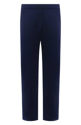Мужские шерстяные брюки LORO PIANA синего цвета, арт. FAI3034 | Фото 1 (Стили: Спорт-шик; Материал внешний: Шерсть; Мужское Кросс-КТ: Брюки-трикотаж; Случай: Повседневный; Длина (брюки, джинсы): Стандартные)