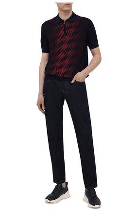 Мужское поло из шелка и хлопка ZILLI бордового цвета, арт. MBV-PZ112-SPRA1/MC01 | Фото 2
