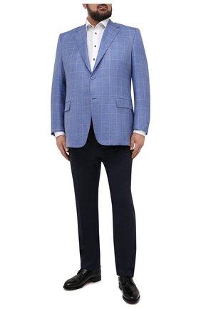 Мужской пиджак из шерсти и шелка CANALI синего цвета, арт. 11280/CF00435/60-64   Фото 2