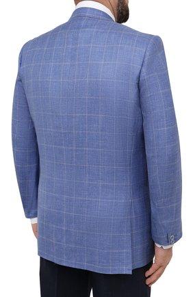 Мужской пиджак из шерсти и шелка CANALI синего цвета, арт. 11280/CF00435/60-64   Фото 4
