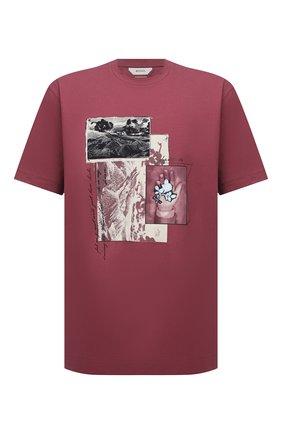 Мужская хлопковая футболка Z ZEGNA розового цвета, арт. VW364/ZZ649Q | Фото 1