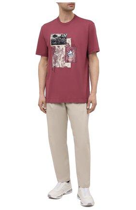 Мужская хлопковая футболка Z ZEGNA розового цвета, арт. VW364/ZZ649Q | Фото 2