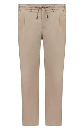 Мужские хлопковые брюки EDUARD DRESSLER бежевого цвета, арт. 150138/51W09 | Фото 1