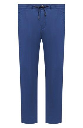 Мужские хлопковые брюки EDUARD DRESSLER синего цвета, арт. 150138/51W09 | Фото 1